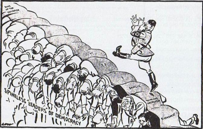 Spineless Leaders of Democracy (Karikatur von David Low, 8_ Juli 1936)